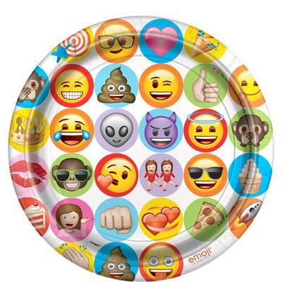 Emoji 22cm Paper Party Plates