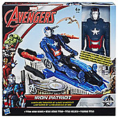 Marvel Avengers Iron Patriot With Arc Thruster Jet