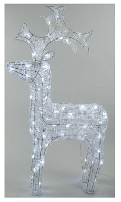 LED Outdoor Reindeer - Cool White - 90CM
