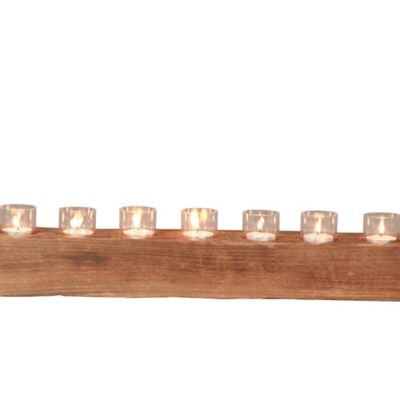 Katigi Designs 60cm Reclaimed Wood Candle Holder