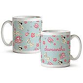Disney 101 Dalmatians Personalised Mother's Day Floral Mug