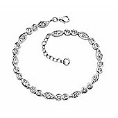 Sterling Silver Marquise and Round CZ Bracelet