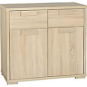 ValuFurniture Cambourne 2 Door 2 Drawer Sideboard - Sonoma Oak Effect