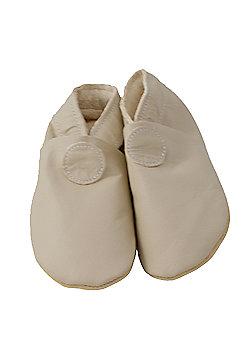 Daisy Roots Soft Leather Baby Shoe - Plain Beige - Beige