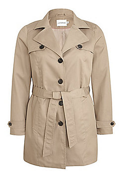 Junarose Plus Size Trench Coat - Beige