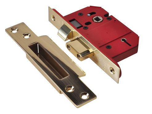 Union StrongBOLT 2200S BS 5 Lever Mortice Sashlock Satin Brass 68mm Visi