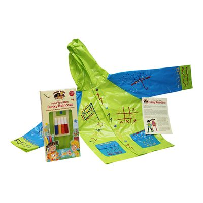 Little Pals Paint Your Own Funky Raincoat fGreen/Blue
