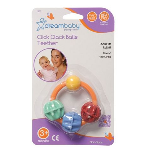 Dreambaby Click Clack Balls Teether