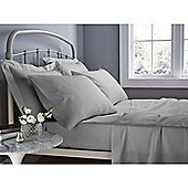 Catherine Lansfield 500 Thread Count Flat Sheet - Grey