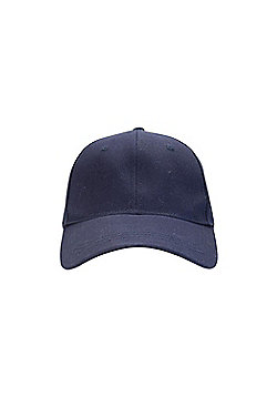 Mountain Warehouse Womens 100% Cotton Baseball Cap with Breathable Fabric - Blue