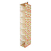 Country Club Seven Section Hanging Wardrobe Organiser, Orange & Green