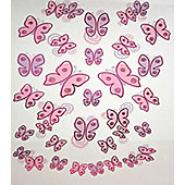 Butterfly Decals, 42 Metallic Stickers