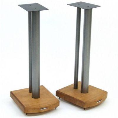 Atacama Moseco 6 Speaker Stands Medium Bamboo Silver Pole