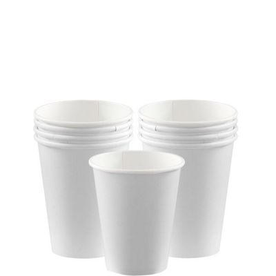 White Cups - 266ml Paper Party Cups - 8 Pack