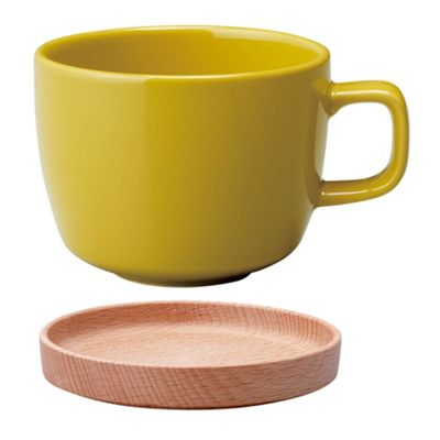 Kinto Neighbors Porcelain Cup & Saucer 280ml Yellow