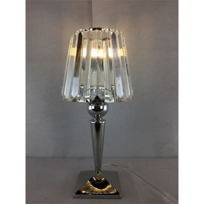 Kliving Chalice Chrome/Clear Glass Table Lamp