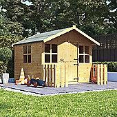 6x5 BillyOh Lollipop Junior Children Wooden Playhouse Outdoor Playground - Premium with 2ft Picket Fence