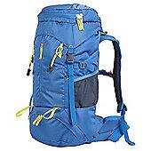 45L Camping Blue/Lime Rucksack