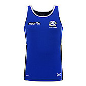 Macron Scotland Rugby SRU Poly Dry Gym Singlet / Vest 2016 - Navy