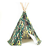 Camouflage Teepee Wigwam Play Tent Children's Tipi