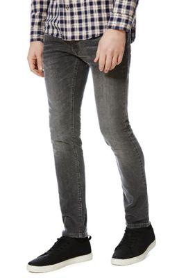 F&F Washed Stretch Skinny Jeans 28 Waist 32 Leg Grey