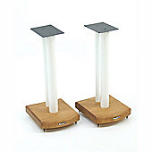 Atacama Moseco 5 Speaker Stands Medium Bamboo-White Pole