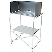 Yellowstone Fold Away Camping Kitchen Stand with Windshield