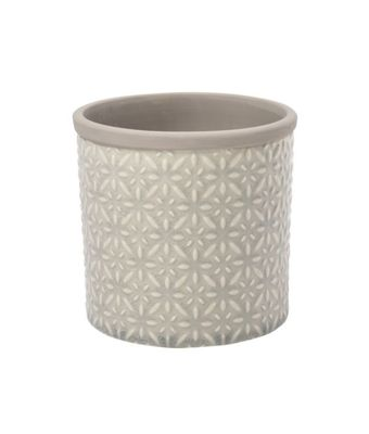 Burgon & Ball Tuscany Indoor Ceramic Plant Pot Small in Soft Grey