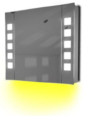 Ambient Demist Bathroom Cabinet With Sensor & Internal Shaver Socket K63Y