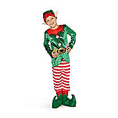 F&F Christmas Elf Fancy Dress Costume - Green