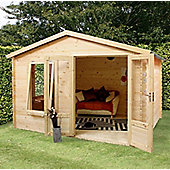 Mercia Studio Wooden Log Cabin, 11x10ft