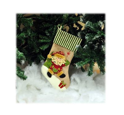 Kingfisher HSTOCK Hessian Stocking Santa
