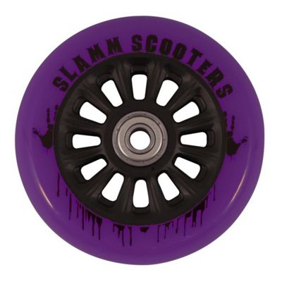 Slamm 100mm Nylon Core Wheel + Bearings - Black / Purple