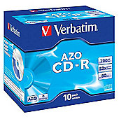 Verbatim CD-R Recordable Disk Write-once Cased 52x Speed 80 Min 700MB (Pack of 10)