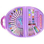 Pink Unicorn 49-Piece Draw & Colour Carry Case