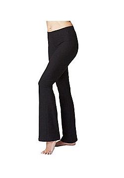 Women's Fitness Gym Sports Bootcut Bottoms Black - Regular Length - Black