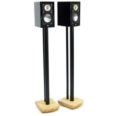 MOSECO 10 Black and Bamboo Speaker Stands