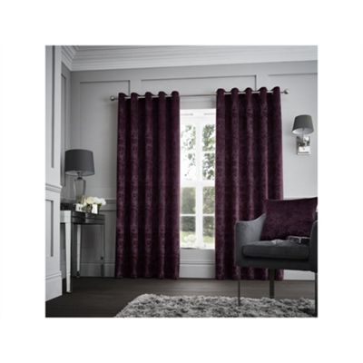 Curtina Purple Downton Eyelet Curtains - 90x90 Inches (229x229cm)