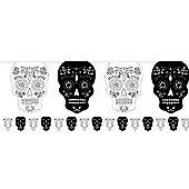 Skull & Rose Bunting - 3.65m Halloween Decoration