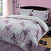 Kids Unicorn Dreams Duvet Cover with Pillow Case Bedding Set, Pink - Pink & White