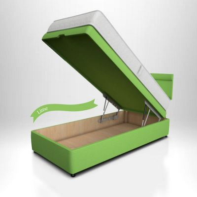 Potter Ottoman Storage Bed - Front Opening Lime
