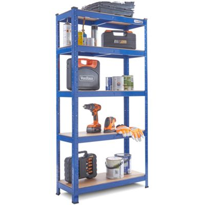 VonHaus 875Kg Heavy Duty Garage Racking / Shelving Unit - Steel & MDF