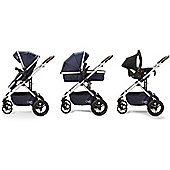Cupla Duo Travel System including 2 in 1 Pushchair, Car seat & Rain Cover - Navy
