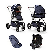 Cupla Duo Single Navy Travel System