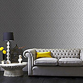 Superfresco Easy Grey Glitz Geo Wallpaper