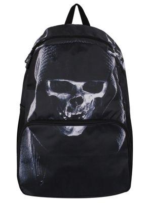 Banned Hooded Skull Black Backpack