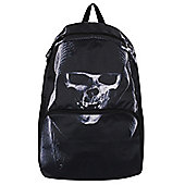 Banned Hooded Skull Black Backpack