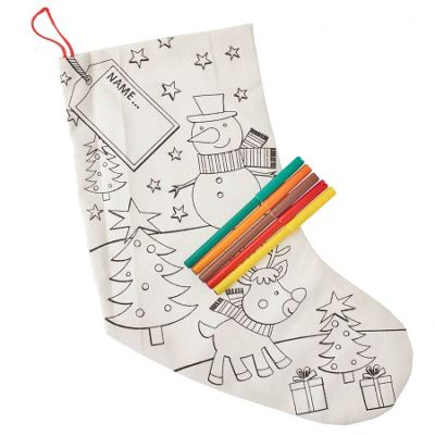 Colour Your Own Christmas Stocking - Snowman