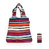 Reisenthel Mini Maxi Shopper Foldup Shopping Bag, in Artists Stripes Design