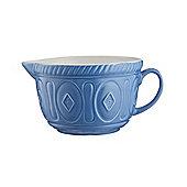 Mason Cash Colour Mix Batter Mixing Ceramic Bowl, Microwave & Dishwasher Safe, 2-Litres (Azure)